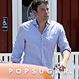 Ben Affleck headed to his car after a meeting with David Fincher in LA.