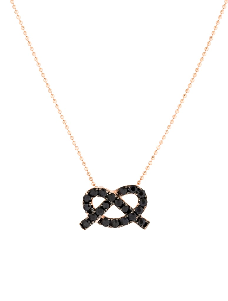 14K Sapphire Pretzel Necklace ($225)