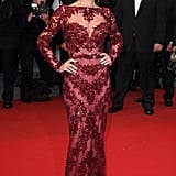 Cheryl Cole stunned in an embellished Zuhair Murad gown at the 2013 premiere of Jimmy P.