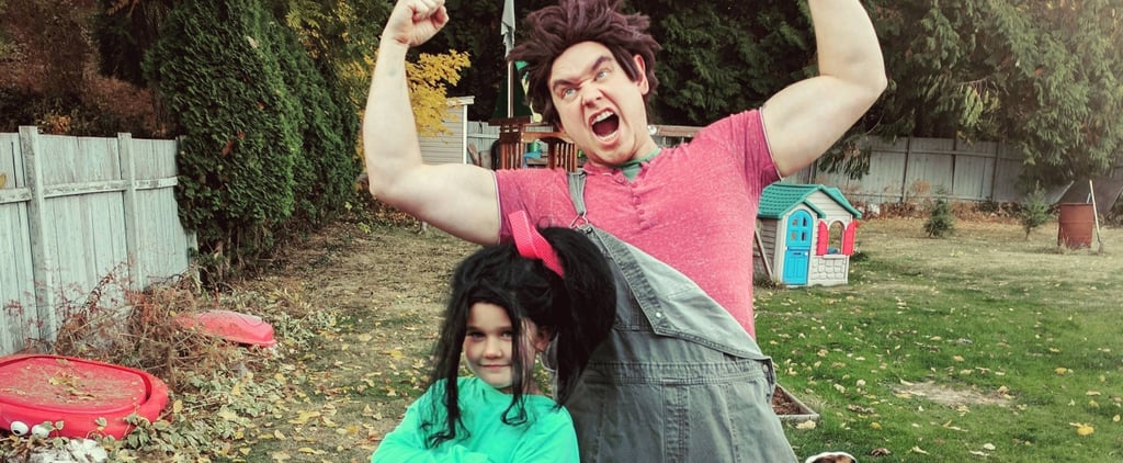 Dad and Daughter Wreck-It Ralph and Vanellope DIY Costumes