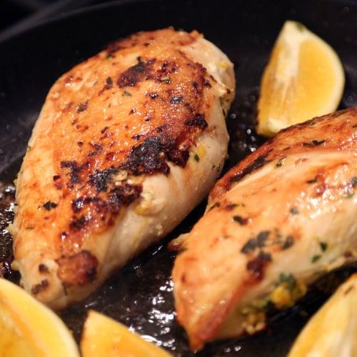 John's Tuscan Brick Chicken With Charred Lemons