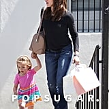 Jennifer Garner took Seraphina Affleck shopping on Thursday.