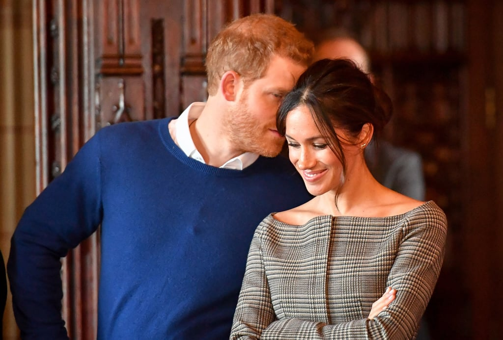 Prince Harry and Meghan Markle are breaking boundaries with their royal romance, especially when it comes to their adorable PDA. While Prince William and Kate Middleton are more discreet with how they show off their love for each other, Harry and Meghan are never shy about holding hands and even sneaking a few kisses now and then. In fact, they already have a signature pose! During their various appearances together, Harry has been spotted whispering into Meghan's ear. See all the sweet moments ahead and then check out Kate and Will's equally sweet signature pose.