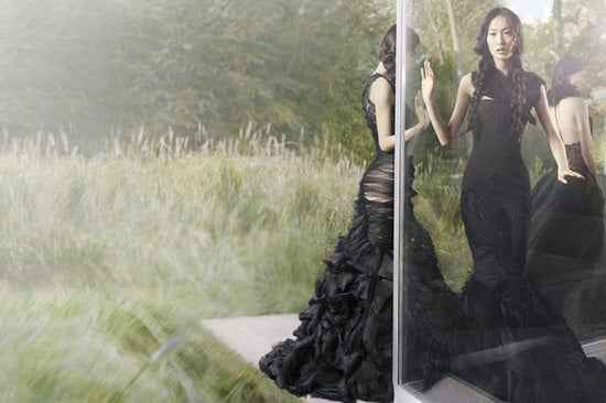 Beautiful black ball gowns — we want one of each — for Vera Wang Fall 2012.