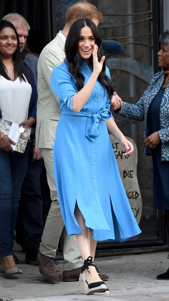 Meghan Markle Repeats Her Blue Veronica Beard Dress on Tour