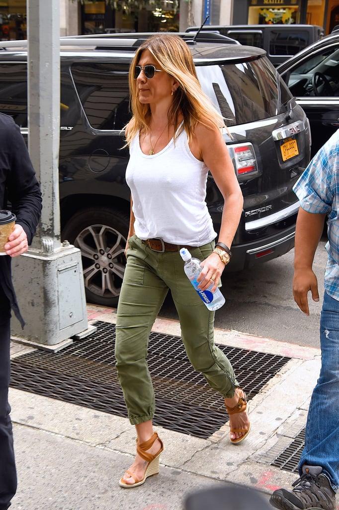 Jennifer Aniston S Burberry Wedges In New York June 2016