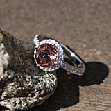 Colour Change Diaspore Engagement Ring Sterling Silver 925 With Cubic Zirconias