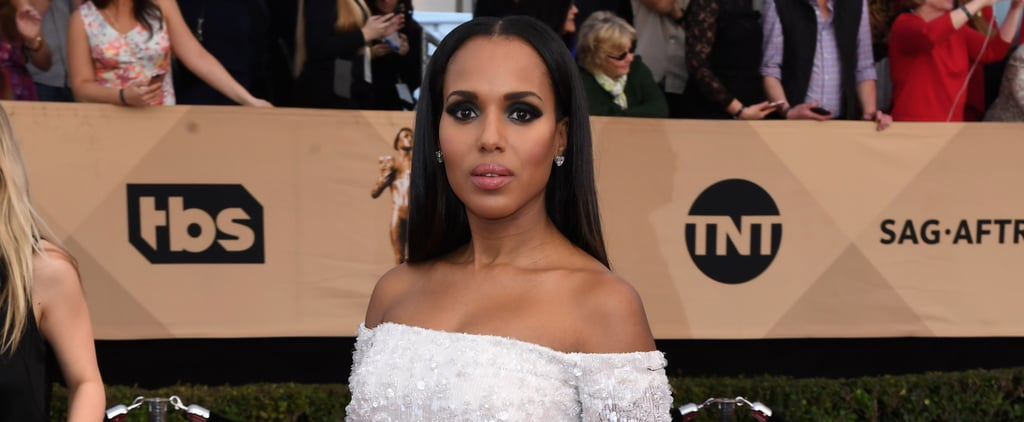 This Tiny Pin on Kerry Washington's Dress Was the Most Powerful Red Carpet Accessory