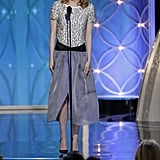 Emma Stone at the Golden Globes 2014