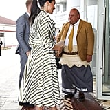 Meghan Markle in a Striped Martin Grant Shirtdress