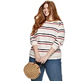 POPSUGAR Plus Size Striped Sweatshirt