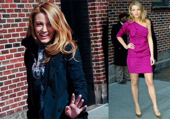 Blake Lively on The Late Show