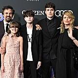 Pictured: Mark Ruffalo, Sunrise Coigney, and their children.