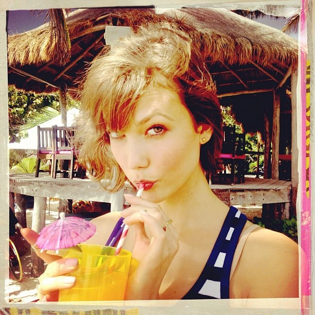 Karlie Kloss displayed her flawless face as she posed for photographer Ben Watts. Source: Instagram user wattsupphoto