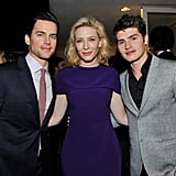 Cate Blanchett had some handsome company at her event with Roberta Armani: she posed for a picture with Matt Bomer and Gregg Sulkin.