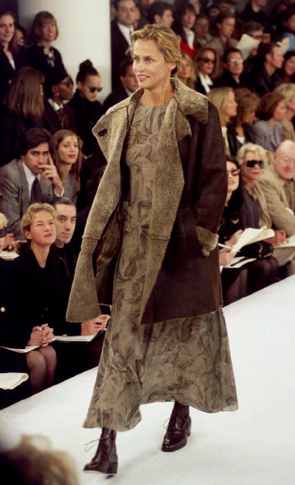 Lauren Hutton Modeling For Calvin Klein in 1993