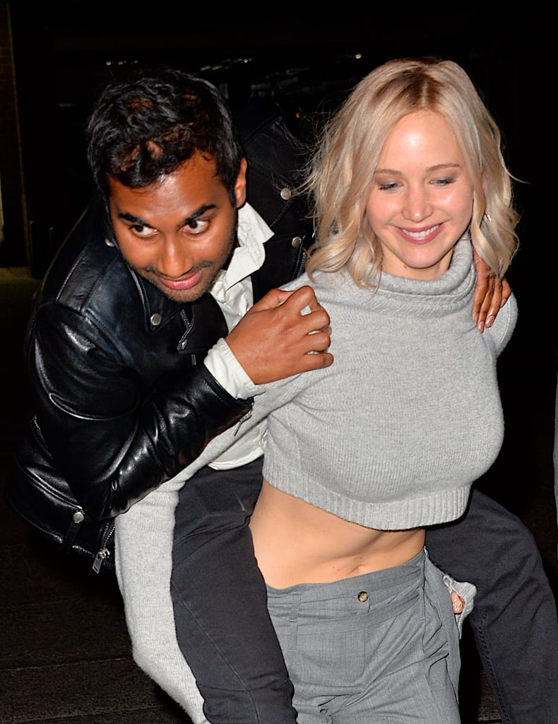 Aziz Ansari and Jennifer Lawrence