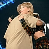 Taylor Swift and Kanye West shared a headline-making hug onstage at the MTV VMAs in August 2015.
