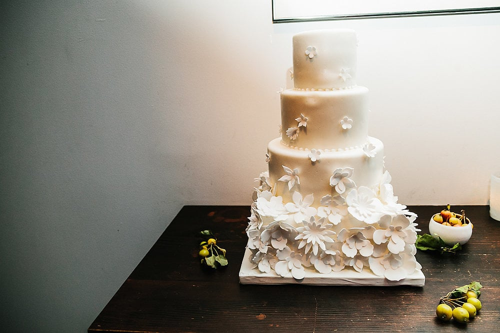 This gorgeous cake proves that fondant flowers are just as classic as the real deal.
