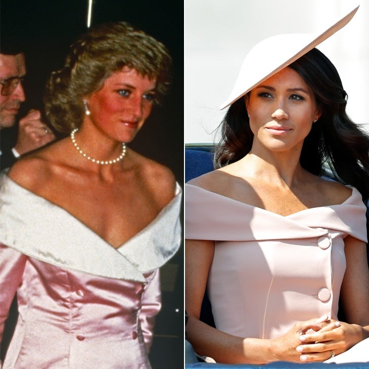 Meghan Markle and Princess Diana Pink Dresses