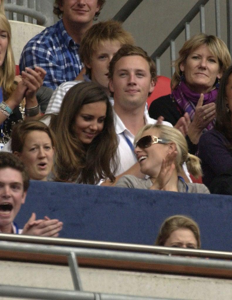 Kate Middleton and Zara Tindall at Princess Diana Benefit Concert in 2007