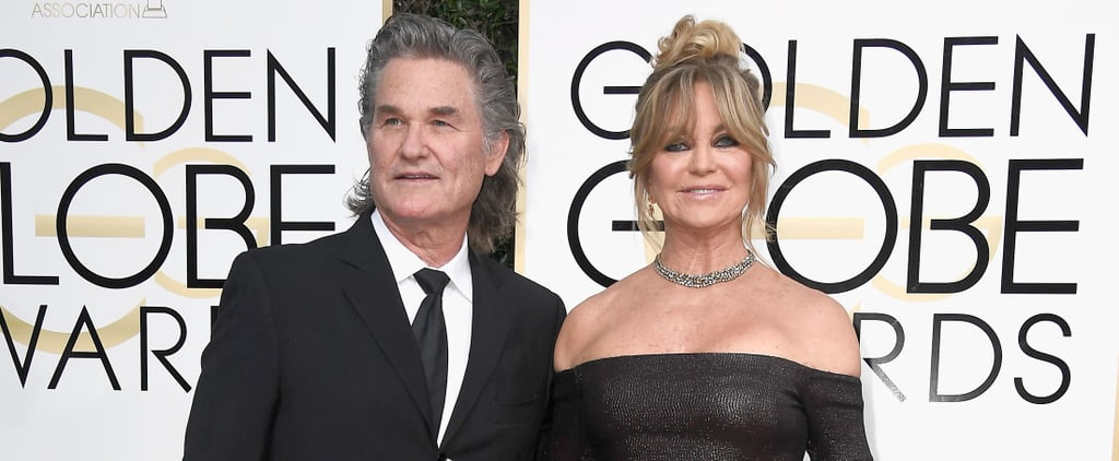 Goldie Hawn and Kurt Russell at the 2017 Golden Globes