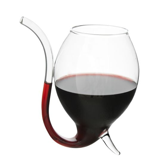 Yes, believe what you are seeing. Meet the wine sipper which is going to make drinking wine on the lounge way easier. Wine Sipper Set of 2 ($32.95)
