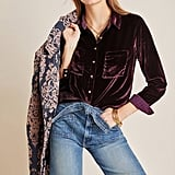Karina Velvet Buttondown