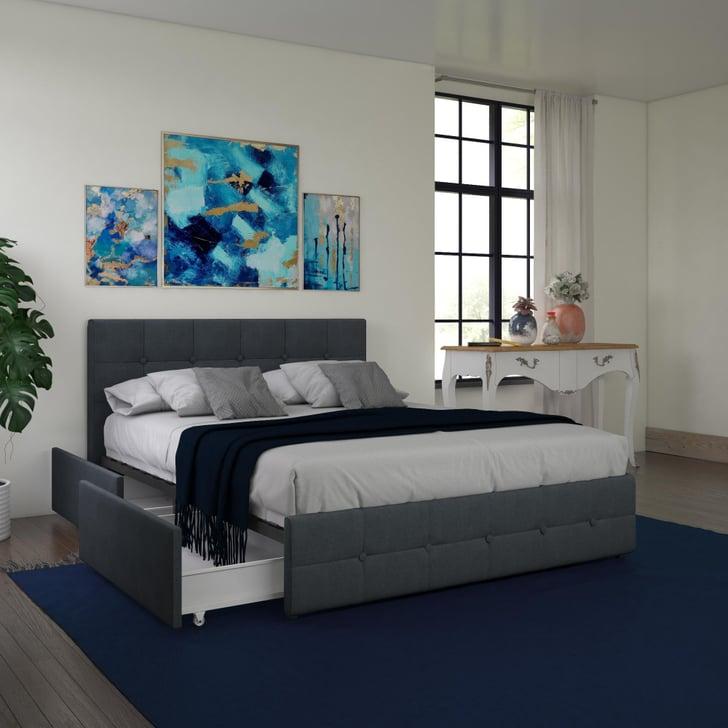 Dhp rose upholstered platform bed with under bed storage - Best platform beds with storage ...