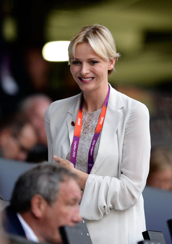 Princess Charlene of Monaco was all smiles.