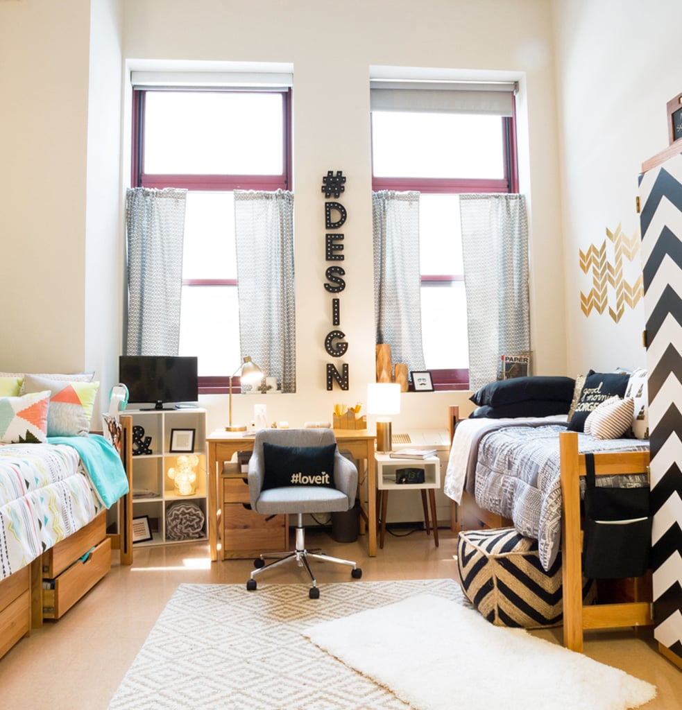 Dorm room design hacks popsugar home - College room decor ideas ...