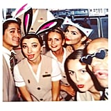 Polaroid picture... 📷💋 #ekcabincrew #travel #dubai #emirates #layover #flying #polaroid #dressup #bunnyears #crewlife