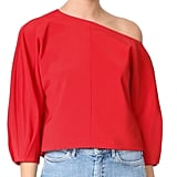 Tibi One Shoulder Top