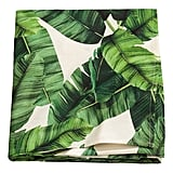 Leaf-Print Cotton Tablecloth ($25)