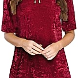 R.Vivimos Crushed Velvet Dress