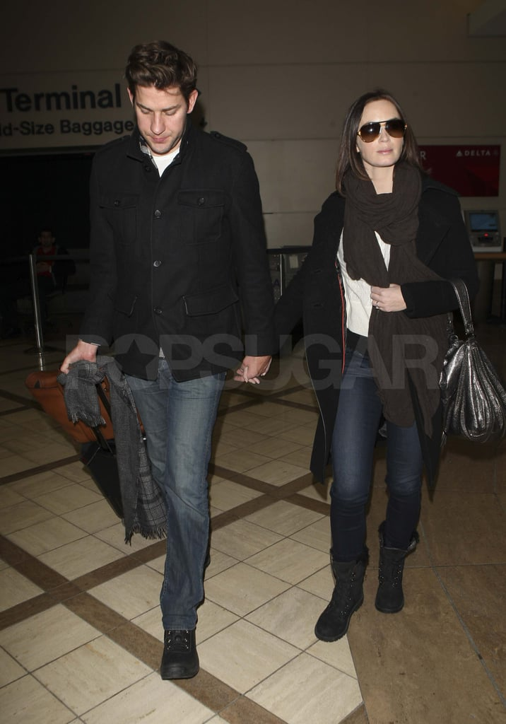 Emily Blunt and John Krasinski after Sundance.