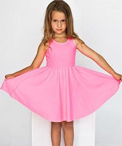 Highlighter Kids Baby Rib Skater Tank Dress ($22)