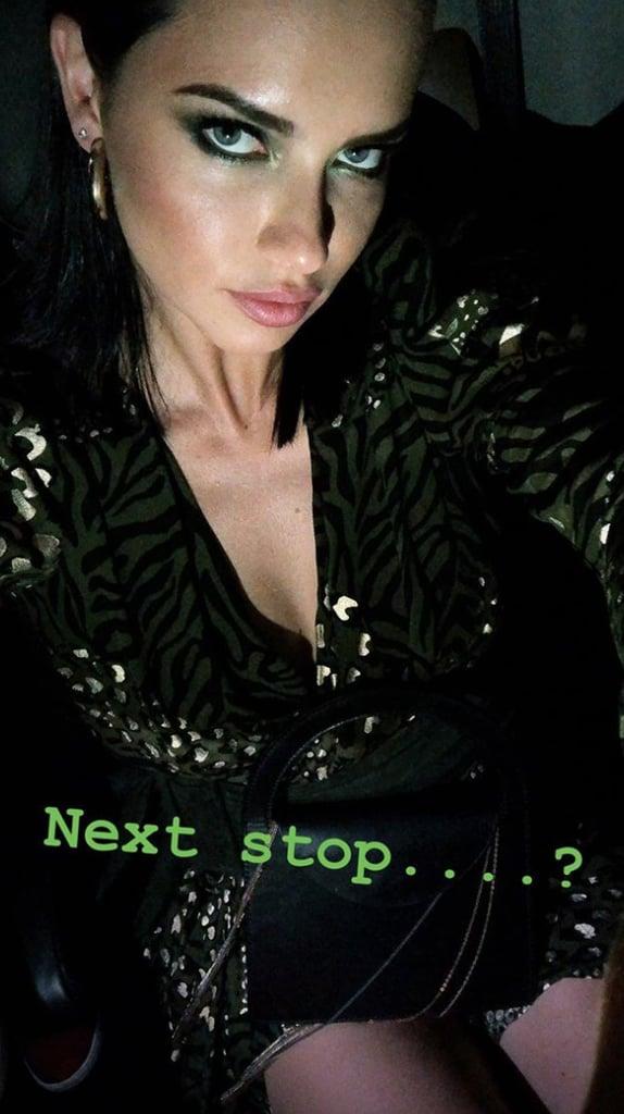 Adriana Lima Took a Cabfie (Cab Selfie, Duh)