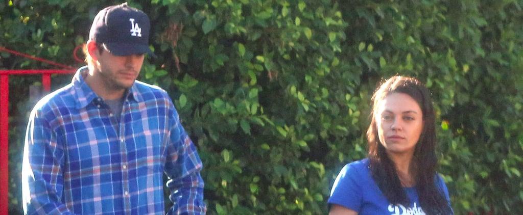 Mila Kunis and Ashton Kutcher Show Their Team Spirit While Running Errands in LA