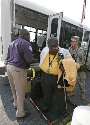 Lines For Evacuation Buses Grow in New Orleans
