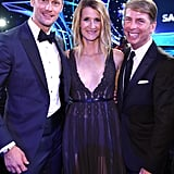 Pictured: Alexander Skarsgard, Laura Dern, and Jack McBrayer