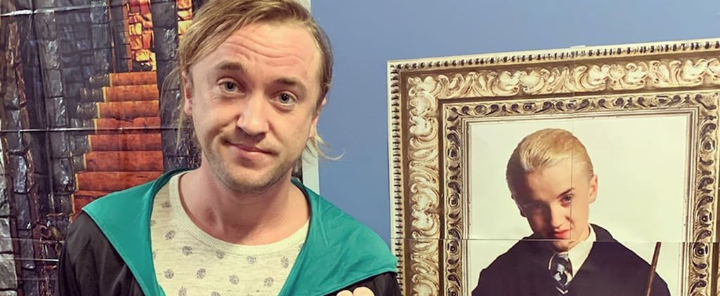 Tom Felton's Instagram Posing Next to a Draco Malfoy Poster