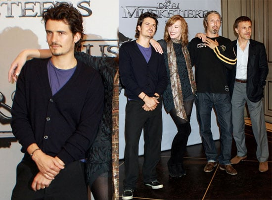 Pictures of Soon-to-Be-Dad Orlando Bloom Promoting The Three Musketeers