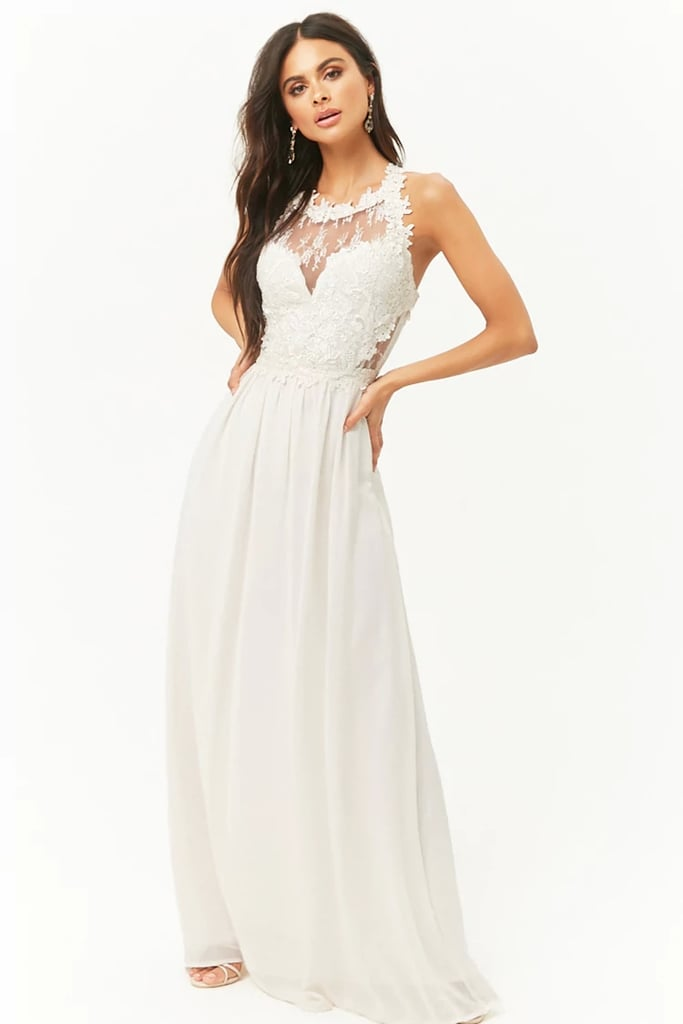 Forever 21 Lace Bodice Maxi Dress Bridal Shower Dresses Popsugar