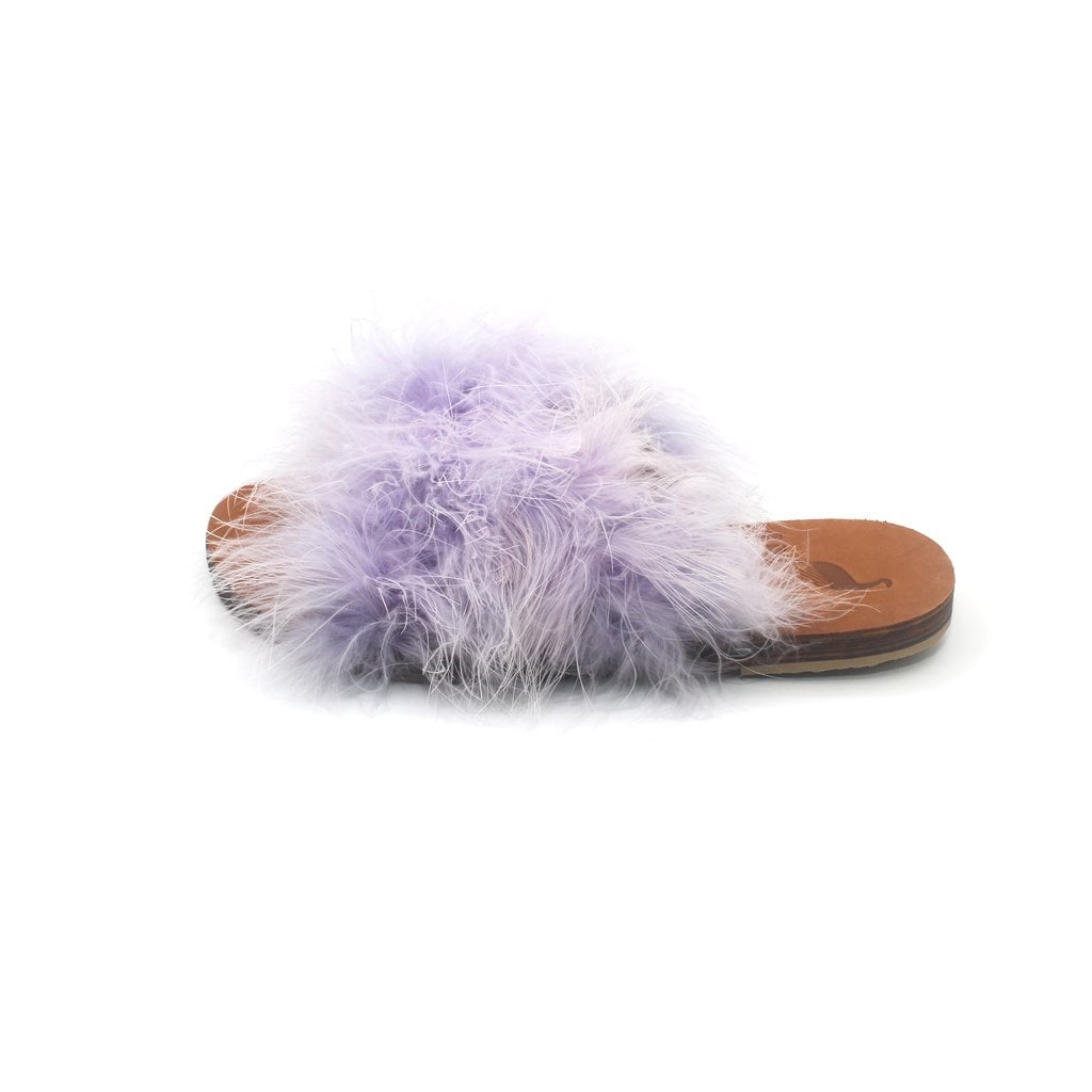 Brother Vellies Marabou Lamu Sandal Lavender