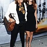 Ashley Greene and Donna Karan smiled at the DKNY Women's show.