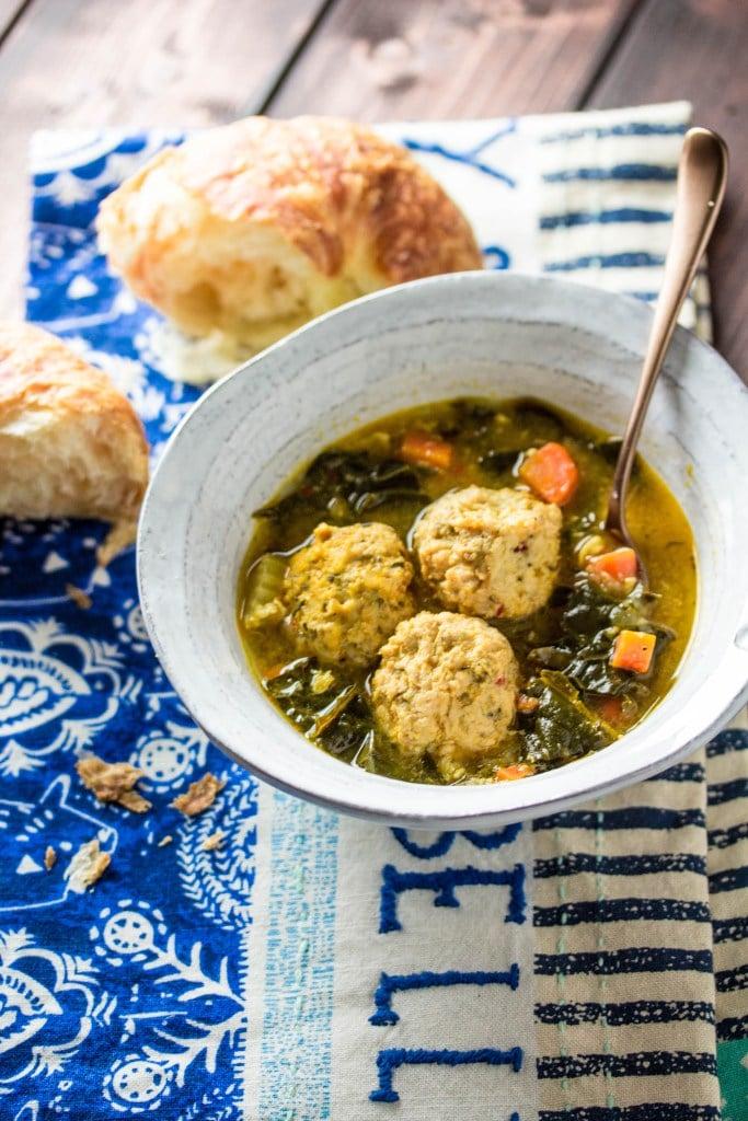 Meatball and Kale Soup