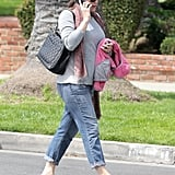 Jennifer Garner crossed the street in Santa Monica.