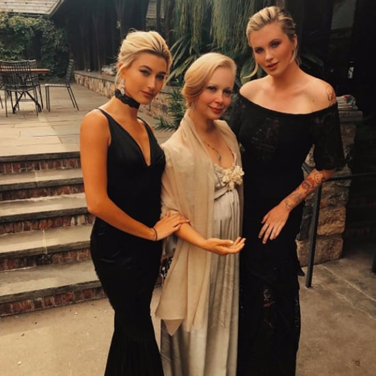 Hailey Baldwin's Black Maid of Honour Dress