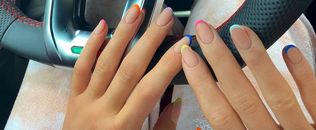 Kylie Jenner's Rainbow French Manicure on Instagram
